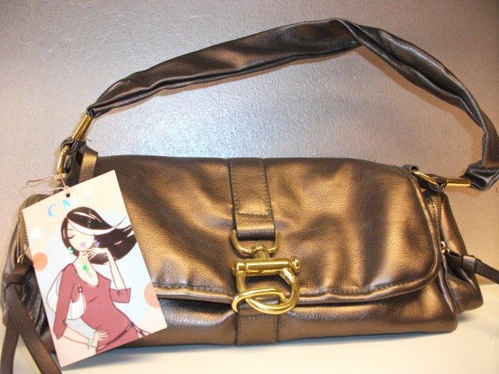 Bronze with Gold Closure Handbag