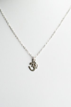 Ofina Small Om Charm Sterling Necklace