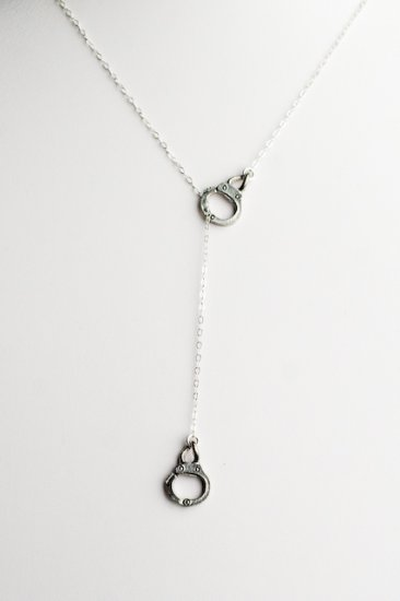Ofina Goldplated Handcuff Lariat Necklace