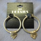 Gold Hoops with Mesh Detail