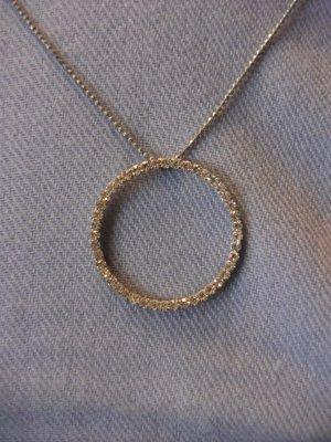 Circle Rhinestone Necklace