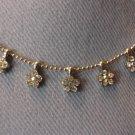 Small Flower Rhinestone Necklace