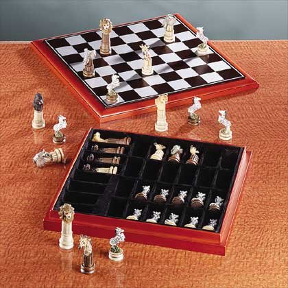 Wildlife Animal Chess Set Item 32338