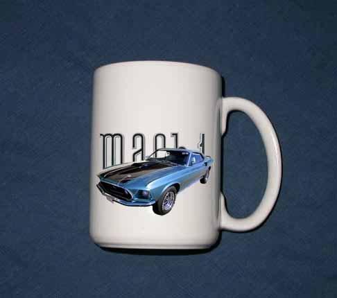 New 15 oz. 1969 Ford Mustang Mach 1 mug