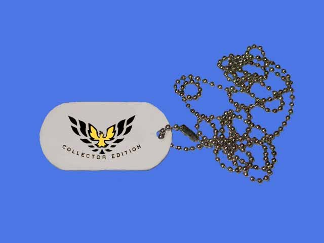 New 2002 35th Anniversary Collectors Edition Trans AM ID Tag