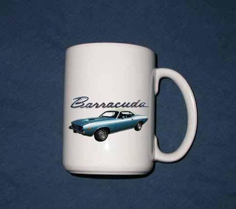 New 15 oz. 1974 Plymouth Barracuda mug