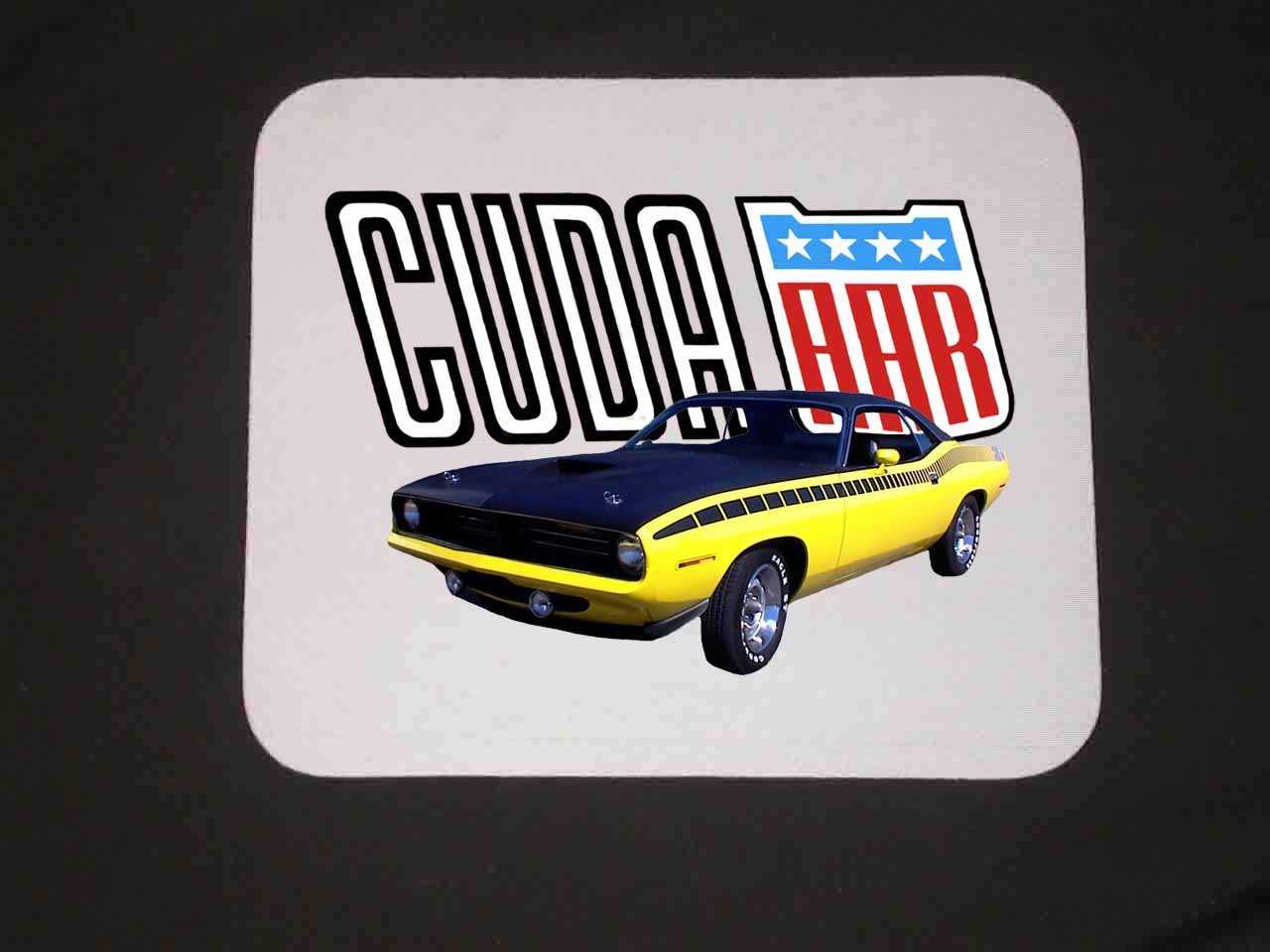 New 1970 Yellow Plymouth AAR Cuda Mousepad!!