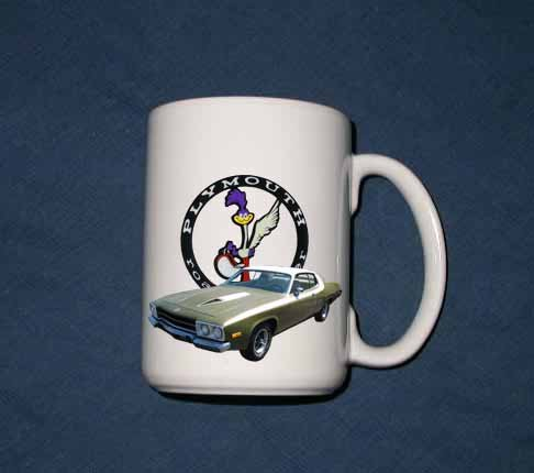 New 15 oz. 1974 Plymouth Roadrunner mug!