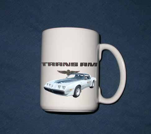 New 15 oz. 1980 Pontiac Indy Pace Car Trans AM mug