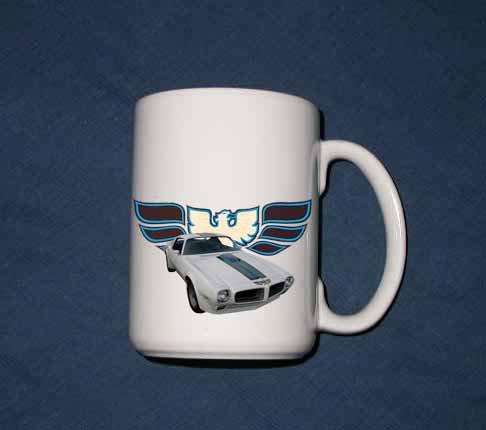New Huge 15 Oz. White 1970 Pontiac Trans AM Mug
