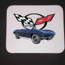 New Dark Blue 1966 Chevy Corvette Mousepad!