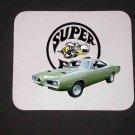 New Green 1970 Dodge Superbee Mousepad!!