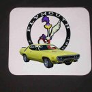 New Yellow 1971 Plymouth Roadrunner Mousepad!!