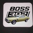 New Olive 1970 Ford Boss Mustang Mousepad!