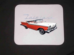New Red 1959 Ford Fairlane Mousepad!