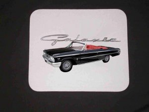 New 1963 Ford Galaxie Mousepad!