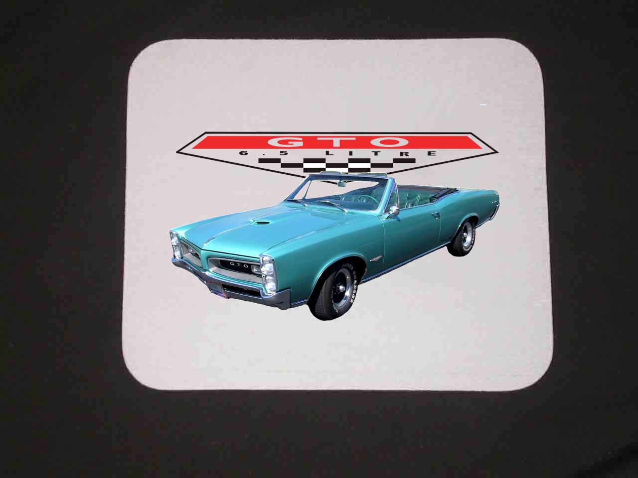 New 1966 Turquoise Pontiac GTO Convertible Mousepad!
