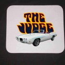 New White 1970 White Pontiac GTO Judge Convertible Mousepad!