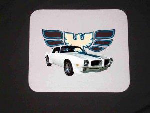 New 1971 White Pontiac Trans AM Mousepad!