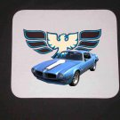 New 1972 Blue Pontiac Trans AM Mousepad!