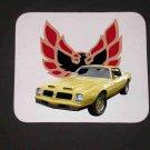 New 1975 Yellow Pontiac Formula Firebird Mousepad!