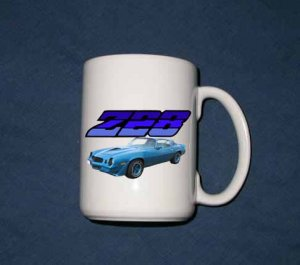 New 15 oz. Blue 1979 Chevy Camaro Z28  mug!