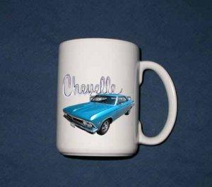 New 15 oz. Blue 1966 Chevy Chevelle  mug!