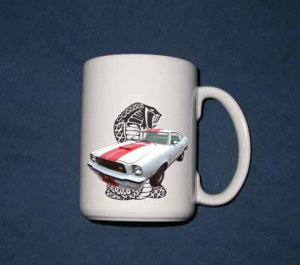 New 15 oz. White 1977 Ford Mustang Cobra mug