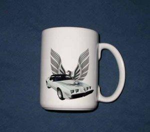 New Huge 15 Oz. White 1980 Pontiac Turbo Trans AM Mug