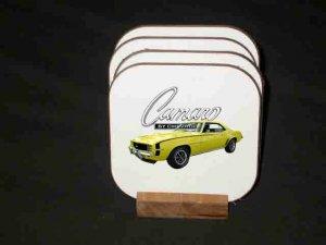 New Yellow 1969 Chevy Camaro RS/SS Hard Coaster set!!