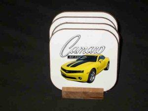 New 2010 Yellow Chevy Camaro SS Hard Coaster set!!