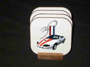 New 1997 Chevy Camaro 30th Anniversary Convertible Hard Coaster set!!