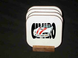 New 1997 Chevy Camaro 30th Anniversary w/letters Hard Coaster set!!