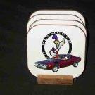 Beautiful 1972 Plymouth Roadrunner Hard Coaster set!