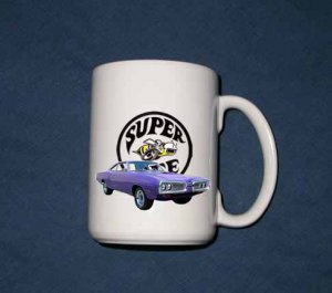 New 15 oz. Purple 1970 Dodge Superbee mug!