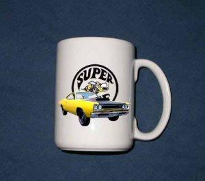 New 15 oz. Yellow 1969 Dodge Superbee mug!