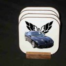 New Blue 2000 Pontiac Trans AM Hard Coaster set!