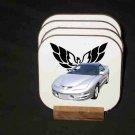 New Silver 2000 Pontiac Trans AM Hard Coaster set!