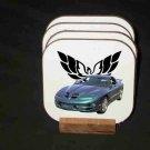 New Green 2000 Pontiac Trans AM WS6 Hard Coaster set!