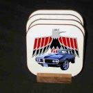 New Black 1968 Pontiac Firebird Convertible Hard Coaster set!