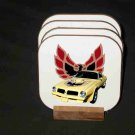 New Yellow 1976 Pontiac Trans AM Hard Coaster set!