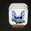 New Blue 1979 Pontiac Trans AM Hard Coaster set!