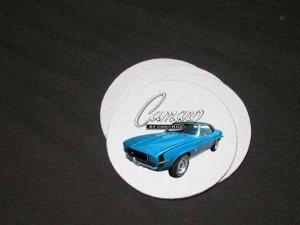 New Blue 1969 Chevy Camaro RS/SS Soft Coaster set!!