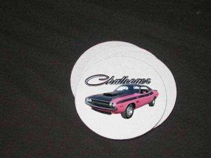New Pink 1970 Dodge Challenger TA Soft Coaster set!!