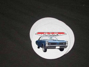 New Blue 1966 Pontiac GTO Soft Coaster set!!