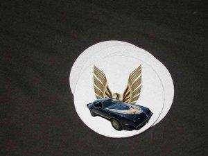 New 1981 Black Pontiac Turbo Trans AM Soft Coaster set!!