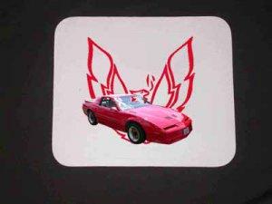 New 1989 Red Pontiac Trans AM GTA Mousepad!