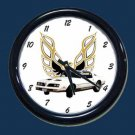 New White 1978 Pontiac Formula Firebird Wall Clock