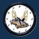 New Gold SE 1978 Pontiac Trans AM Wall Clock