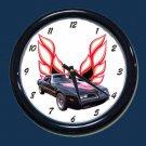 New Black/Red 1978 Pontiac Trans AM Wall Clock